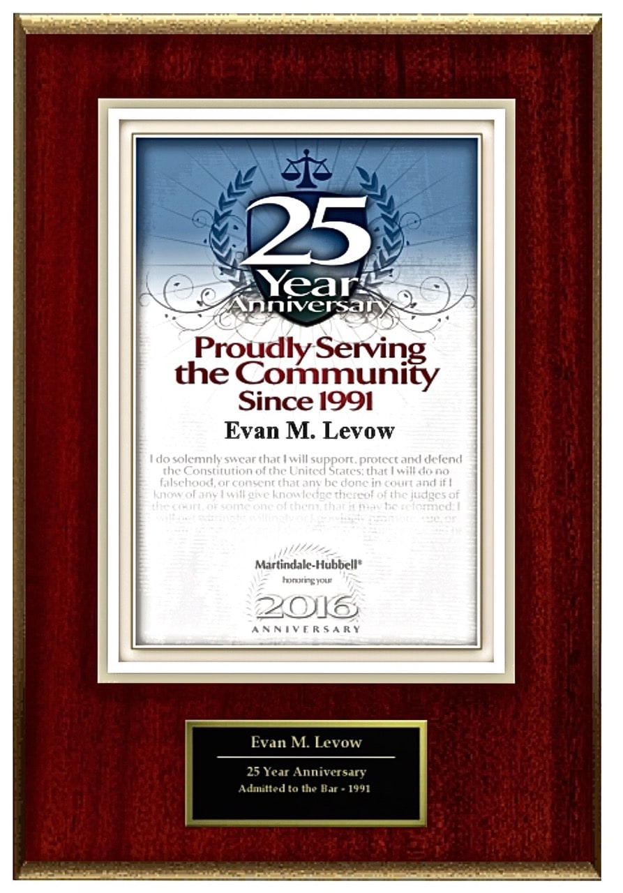 Levow DWI Law Certifications and Awards